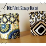DIY: Fabric Storage Buckets