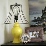 Before and After – Thrifted Yellow Lamp