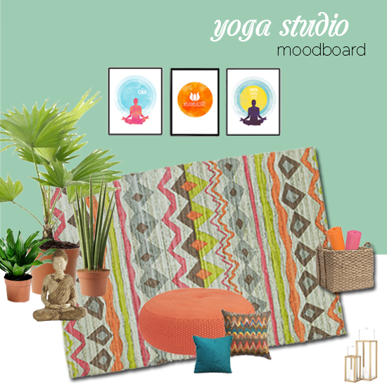 Tips for decorating a home yoga studio all put together for Yoga decorations home