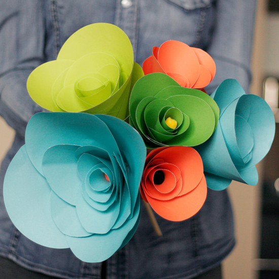 Diy how to make paper flowers all put together ive never been a big fan of fake flowers to me theyre kinda like fake boobs some make you exclaim wow they look so real and others make you think mightylinksfo Images