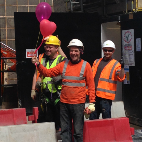 Construction Workers Balloons