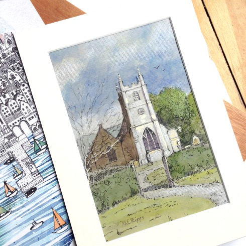 church cotswolds souvenir