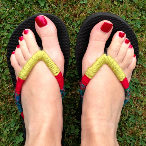 DIY Embellished Flip Flops for Summer