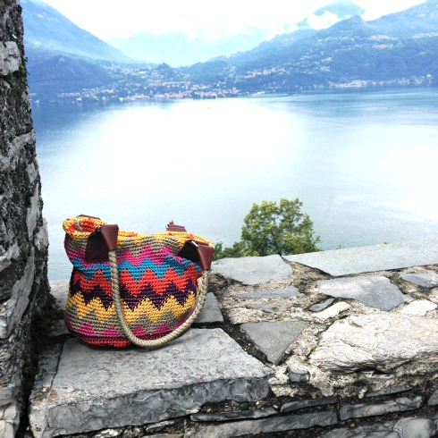 Lake Como View from Varenna Castle