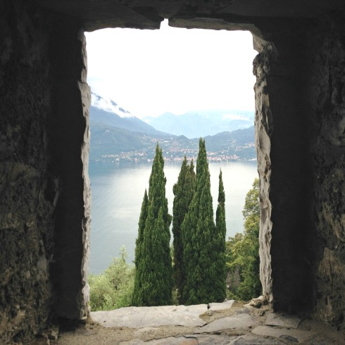 view from castle lake como italy