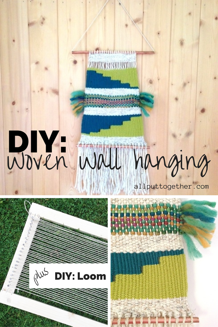DIY Woven Wall Hanging Pinterest Pin
